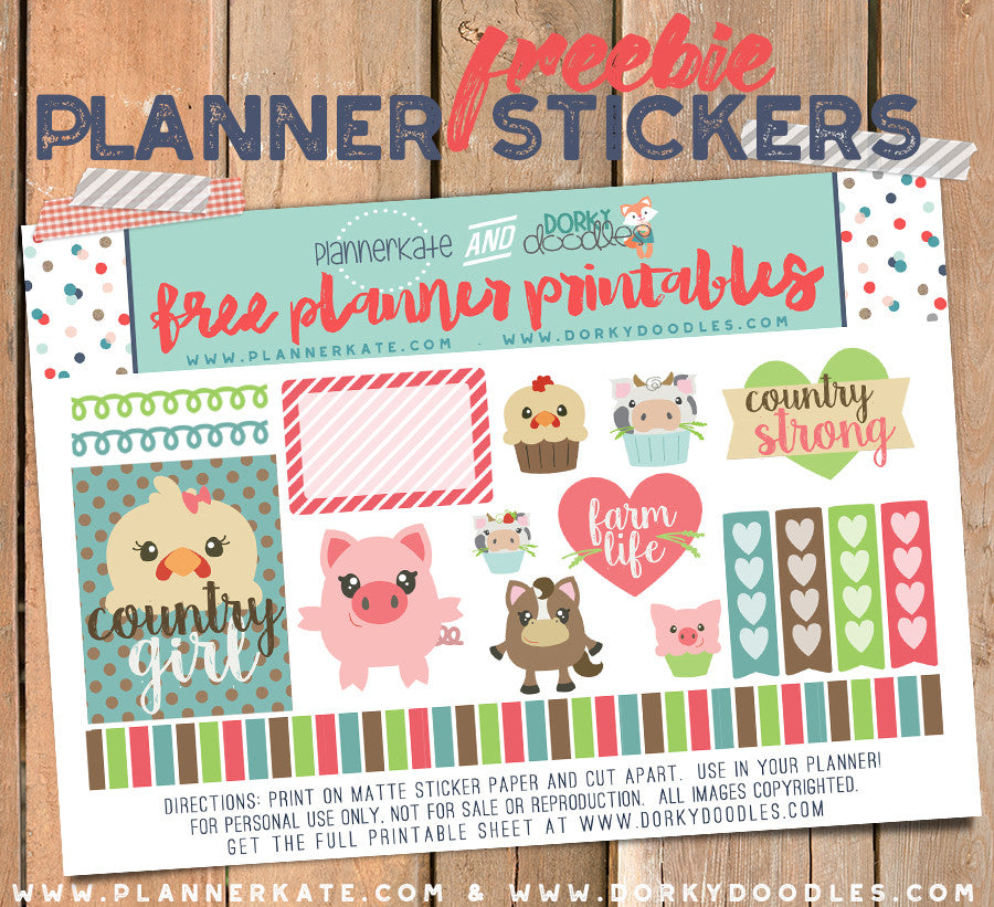 free planner stickers
