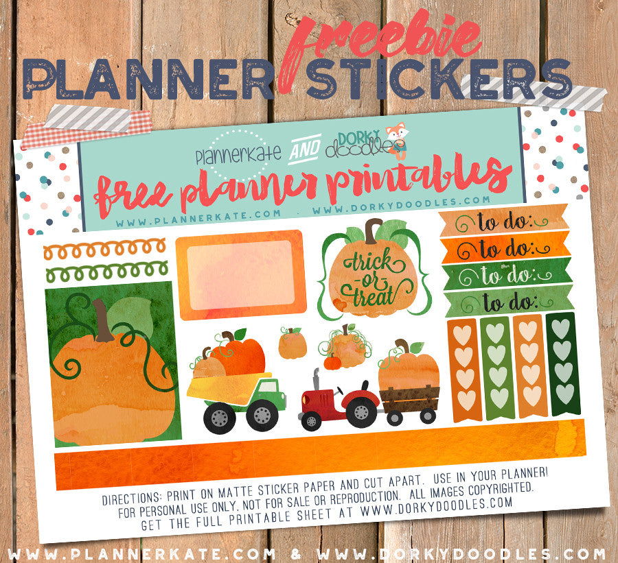 pumpkin planner stickers