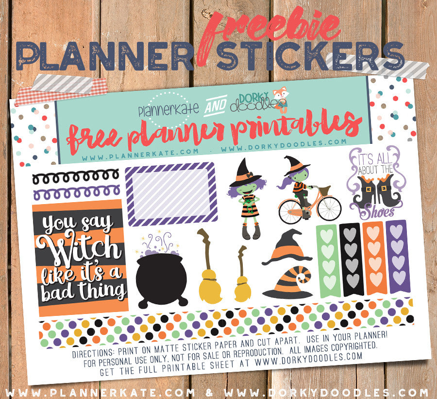 witch planner stickers