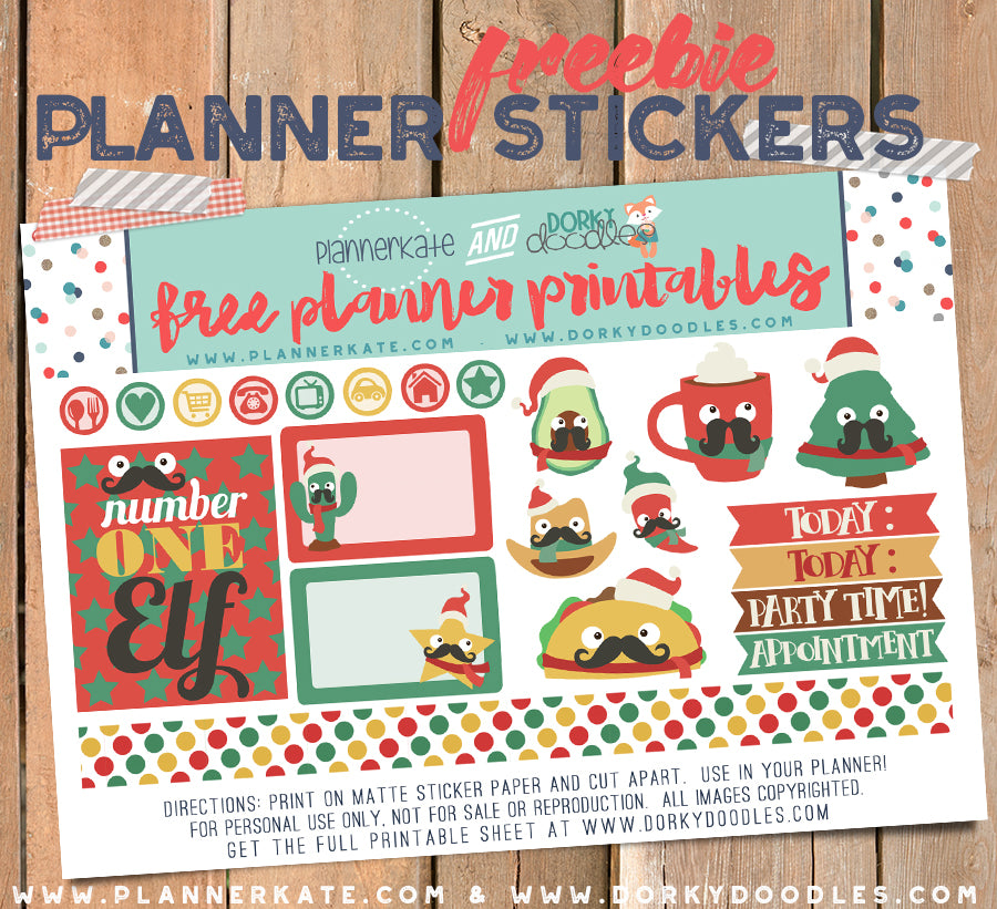 Cowboy Christmas Planner Stickers