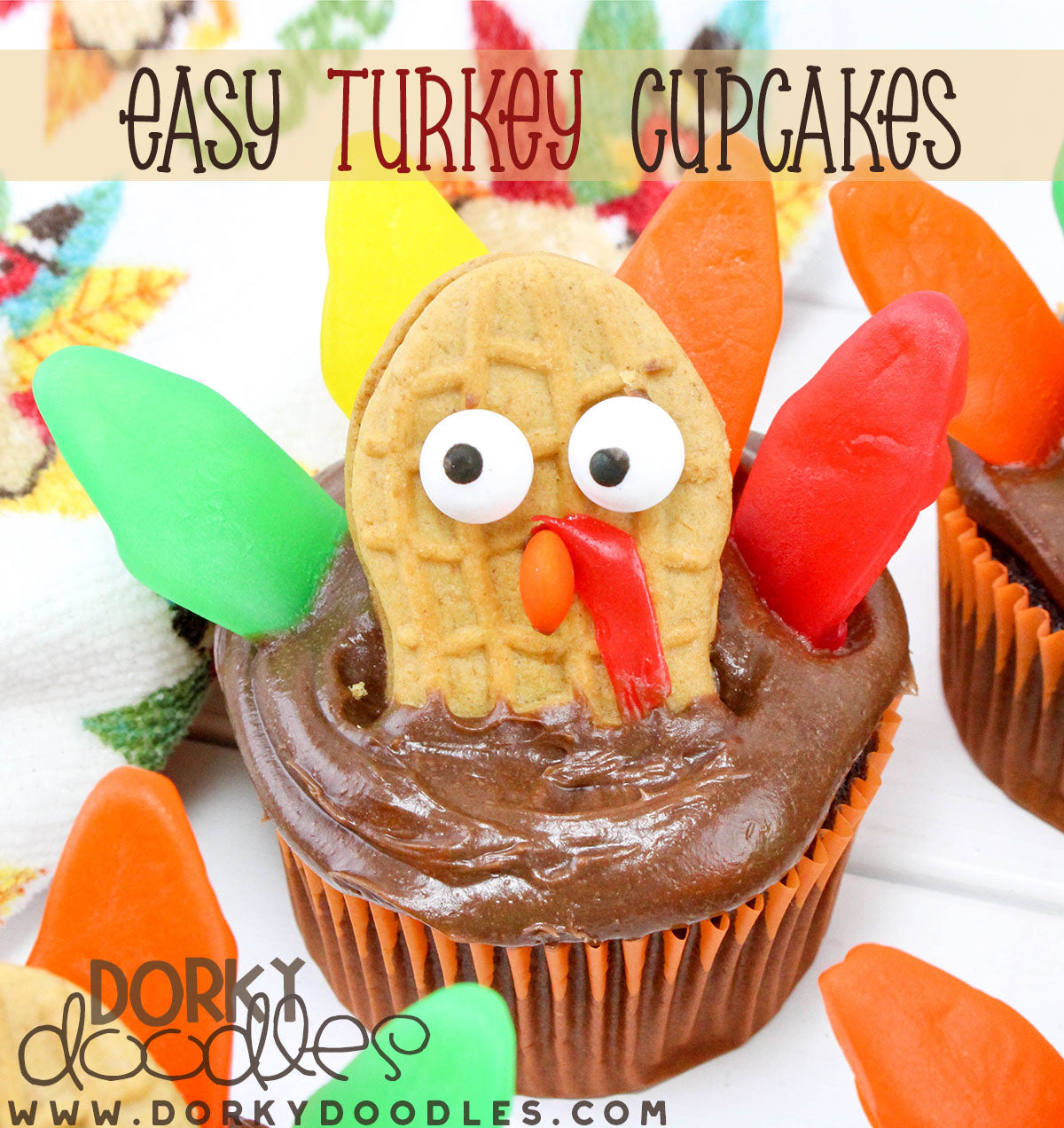 easy turkey cupcake