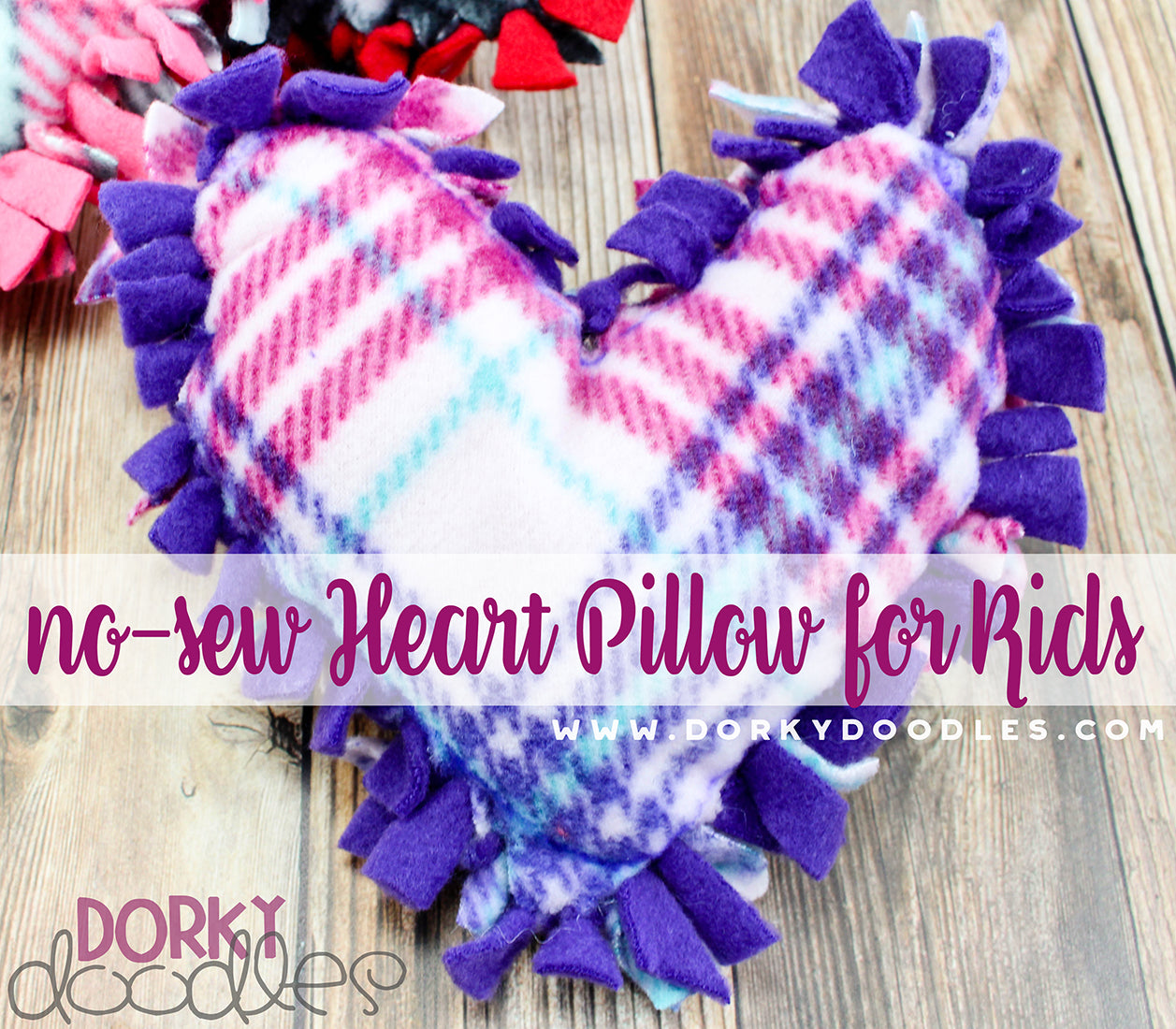 no sew valentine pillow craft