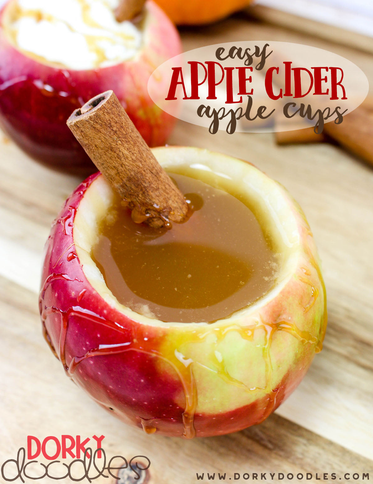 apple cider apple cups for party