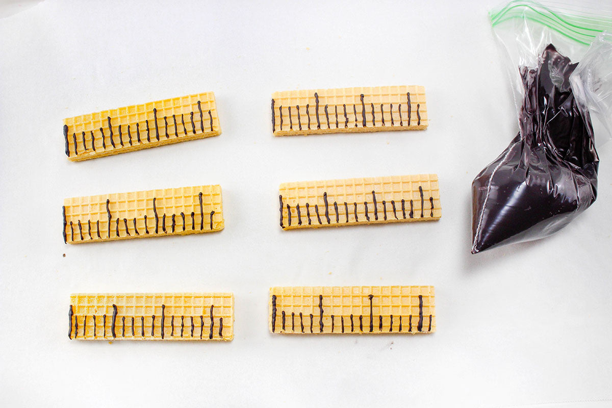 wafer cookie rulers