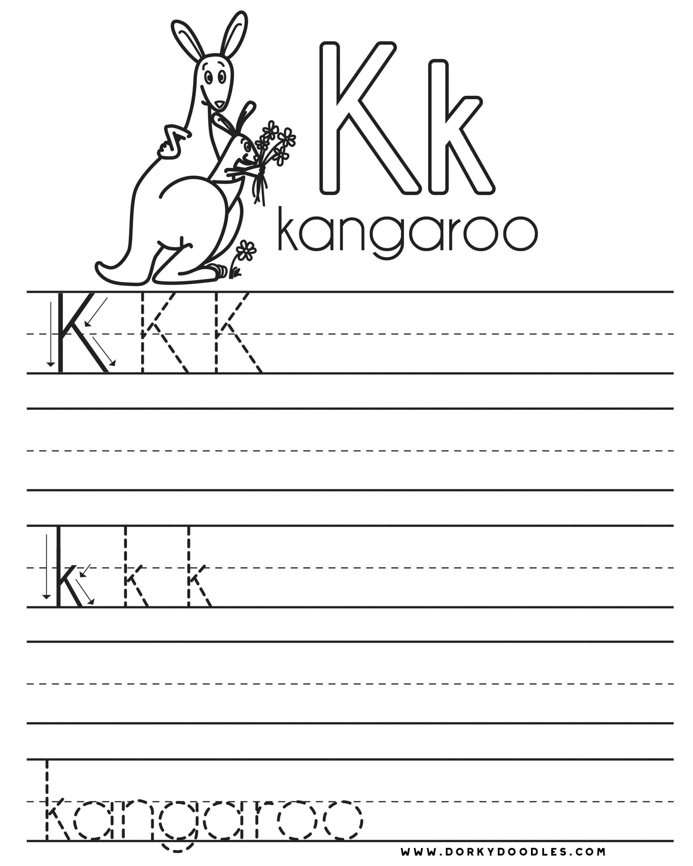 worksheet K Worksheets letter practice k worksheets dorky doodles and right click this image to download save the free coloring page