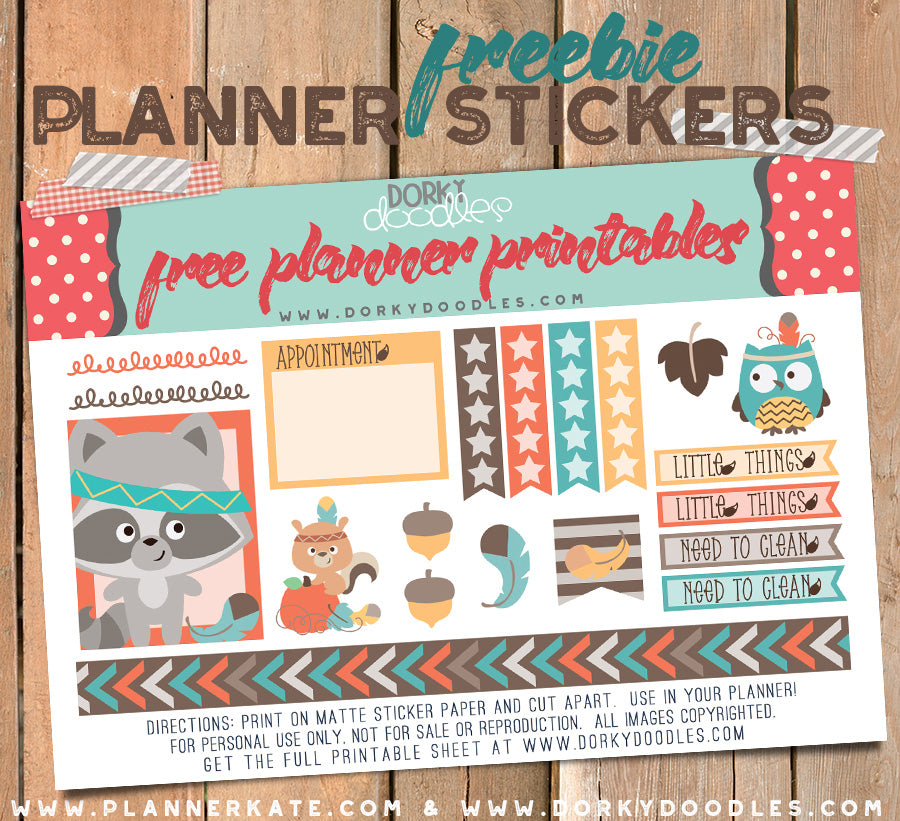 tribal planner stickers