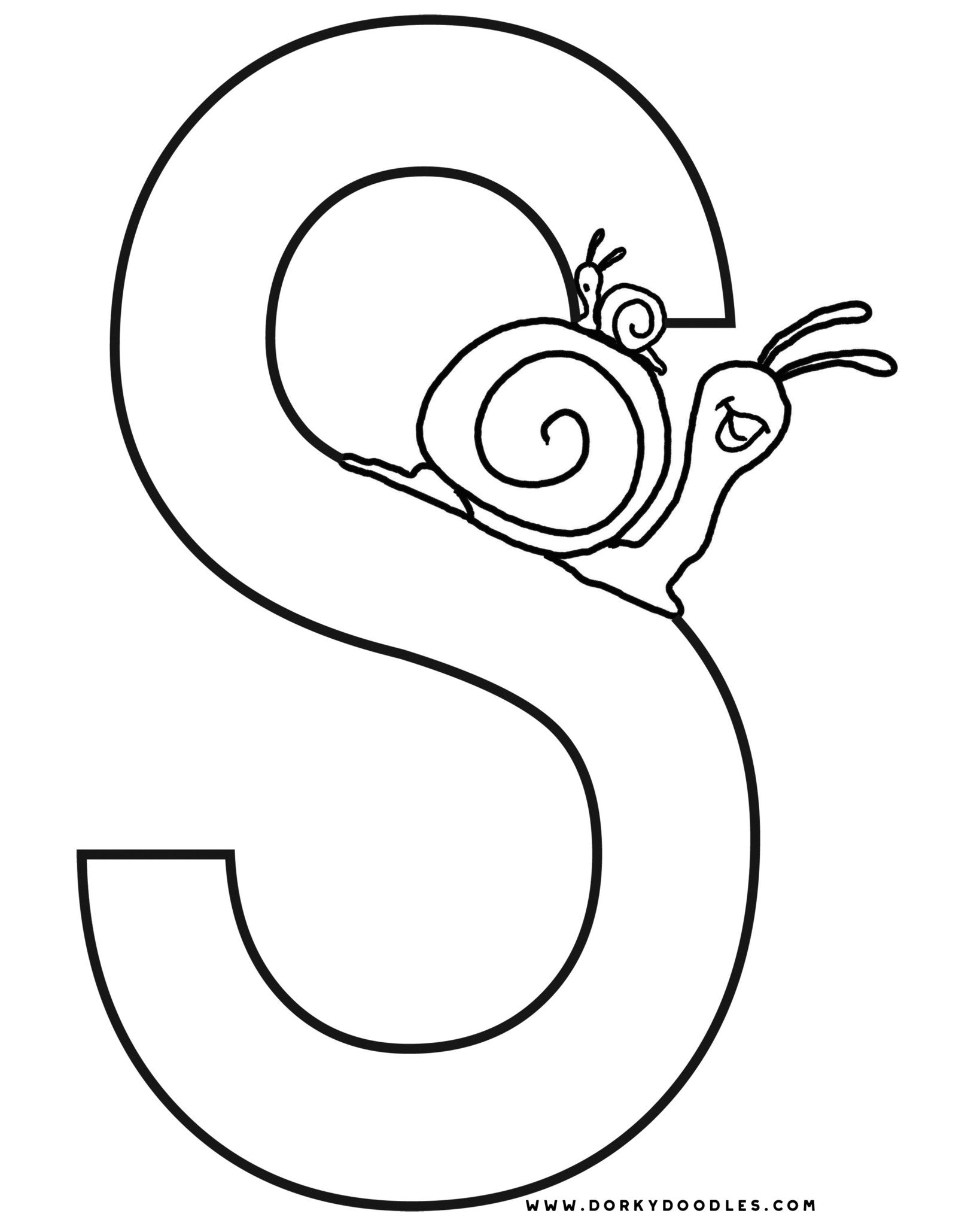 letter s coloring and writing worksheets  u2013 dorky doodles