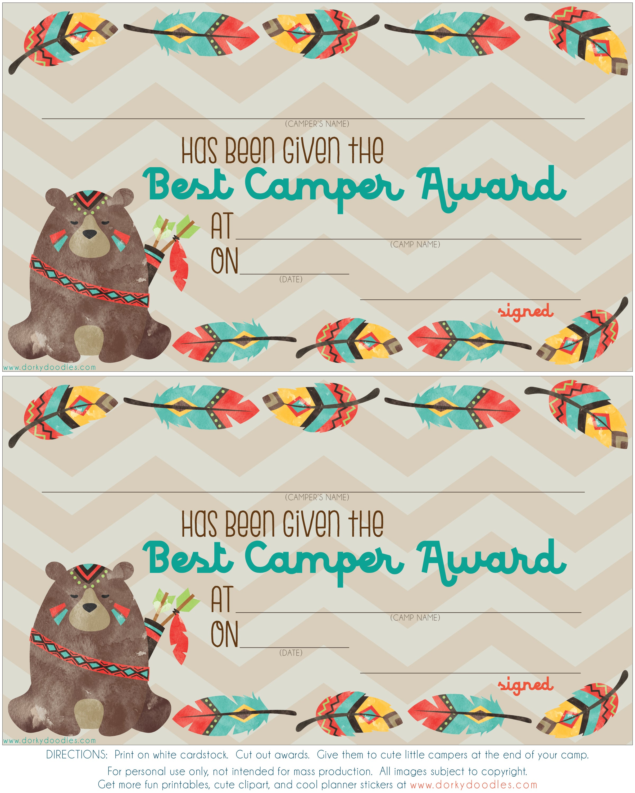 kids summer camp award
