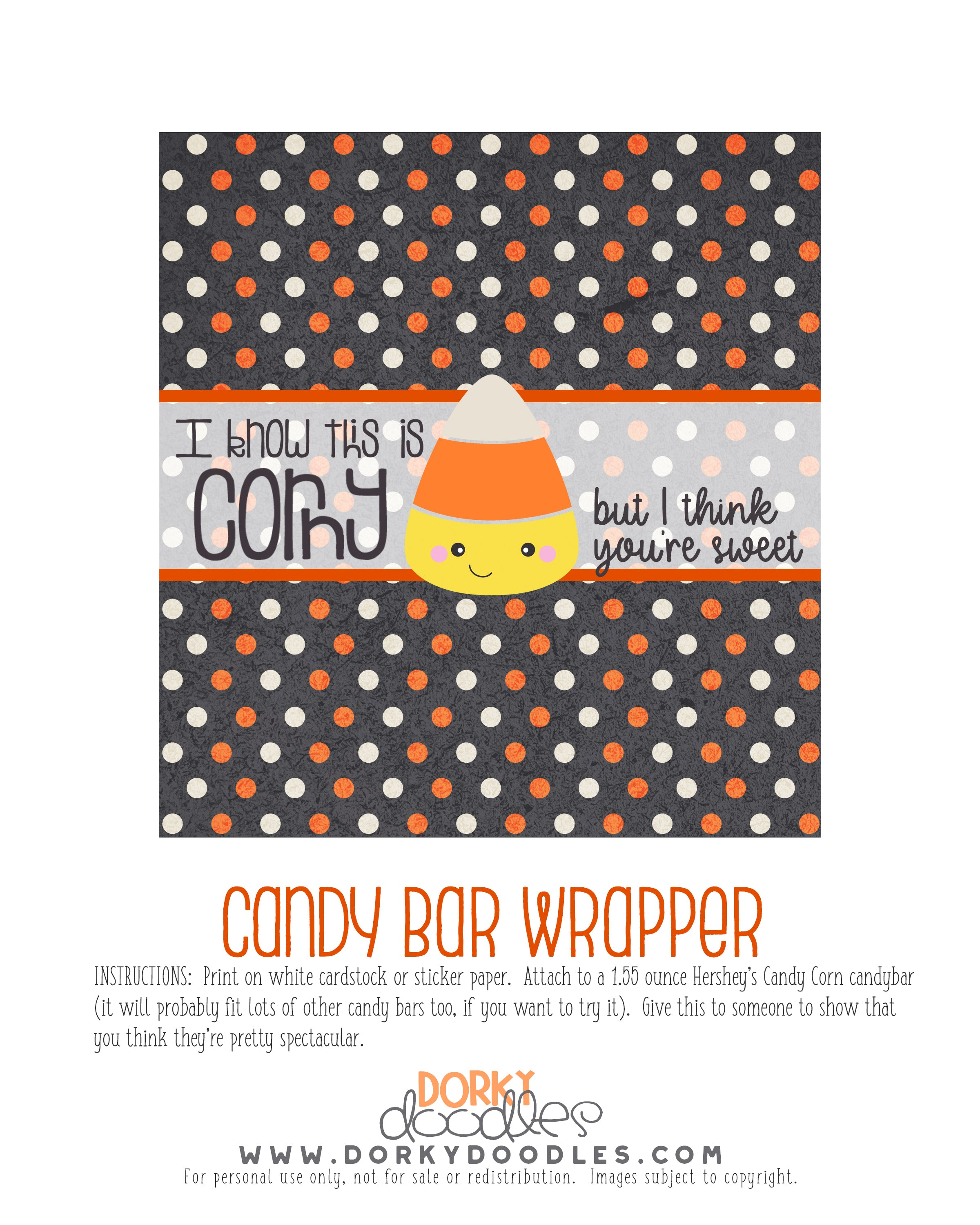 candy corn halloween printable