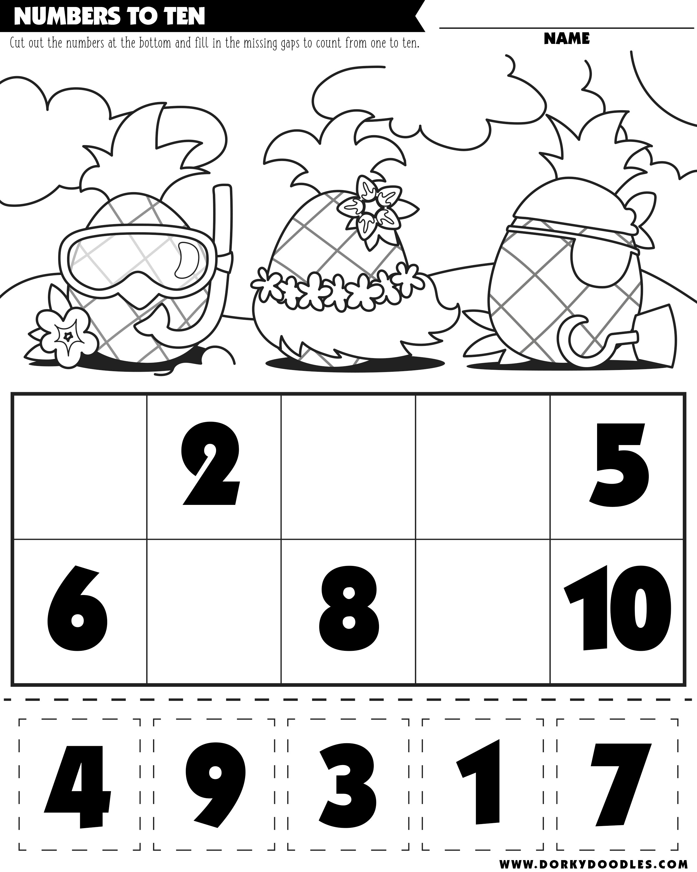 count to ten worksheet