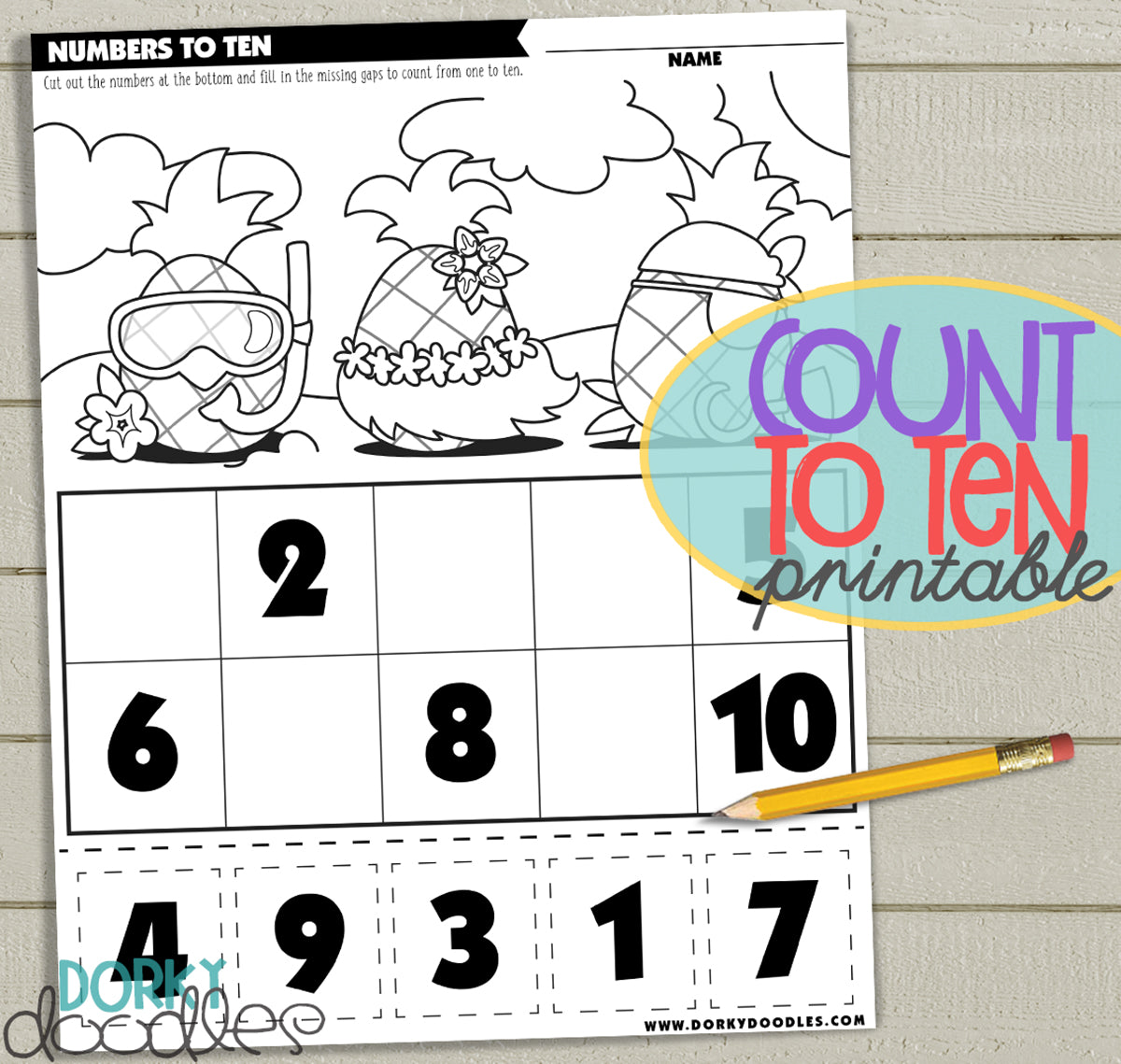 count to ten printable