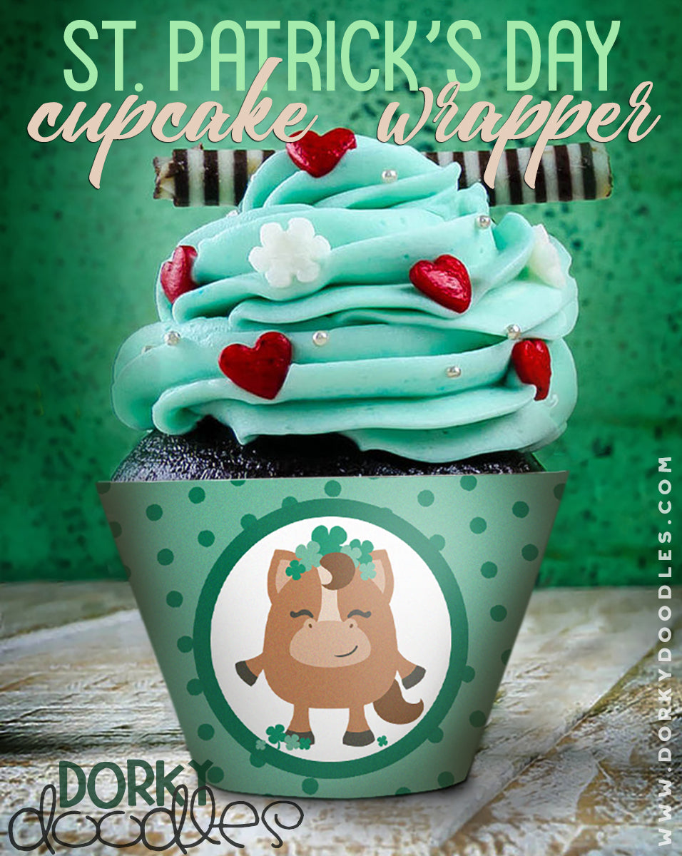 St patricks day cupcake printable