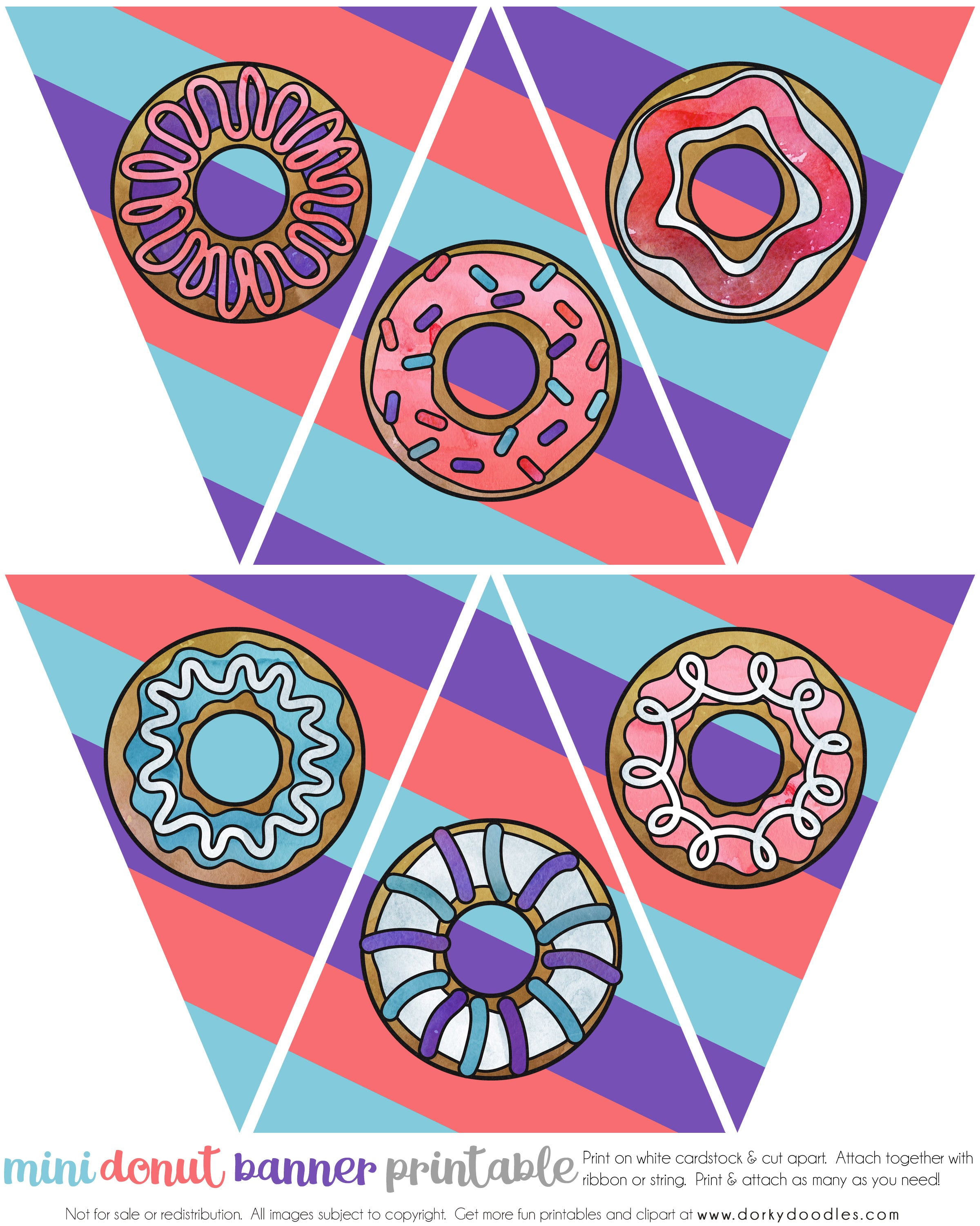 doughnut party banner