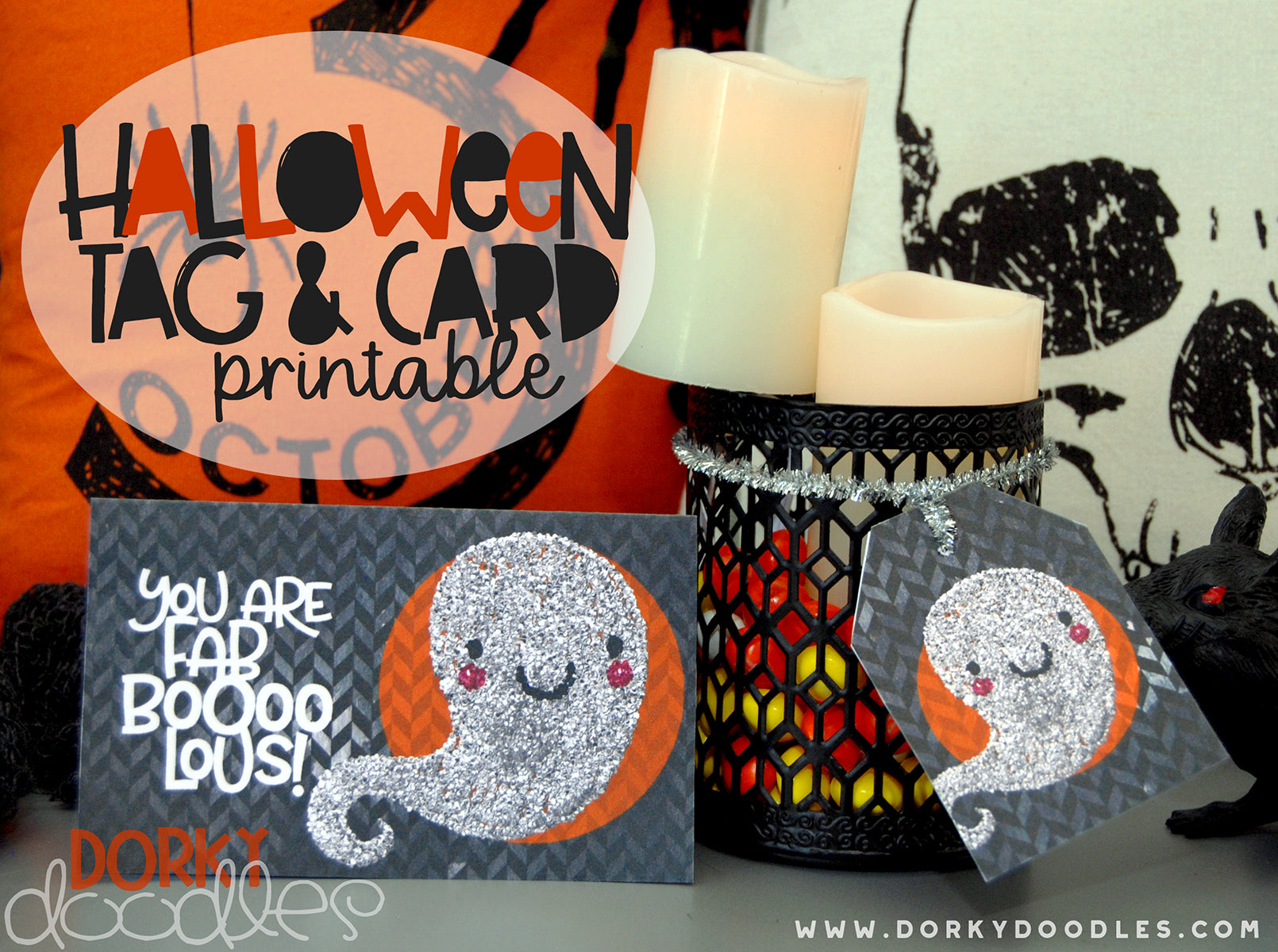 halloween gift tag and card