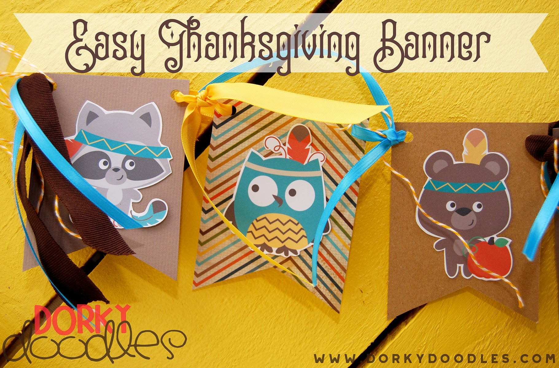 thanksgiving banner using clipart
