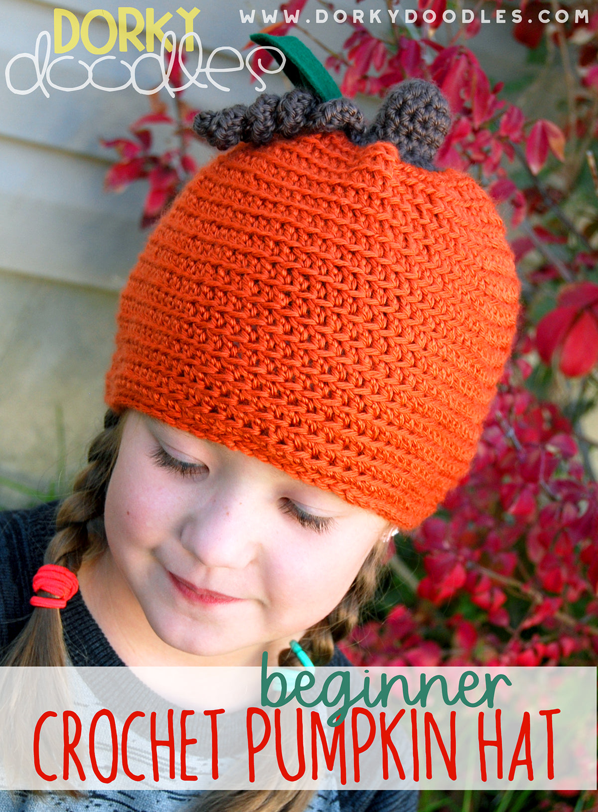easy crochet pumpkin hat for kids
