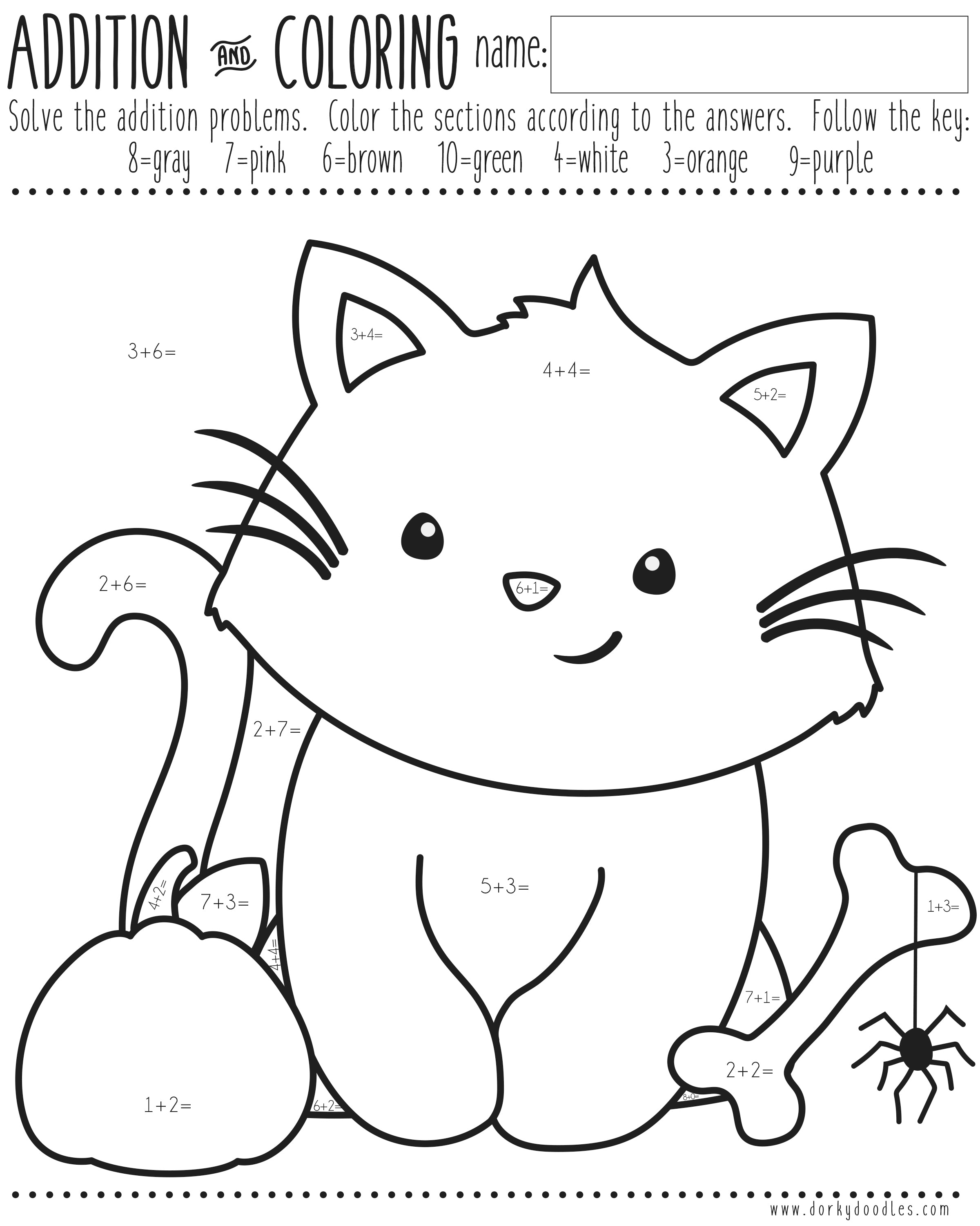 halloween printable math centers