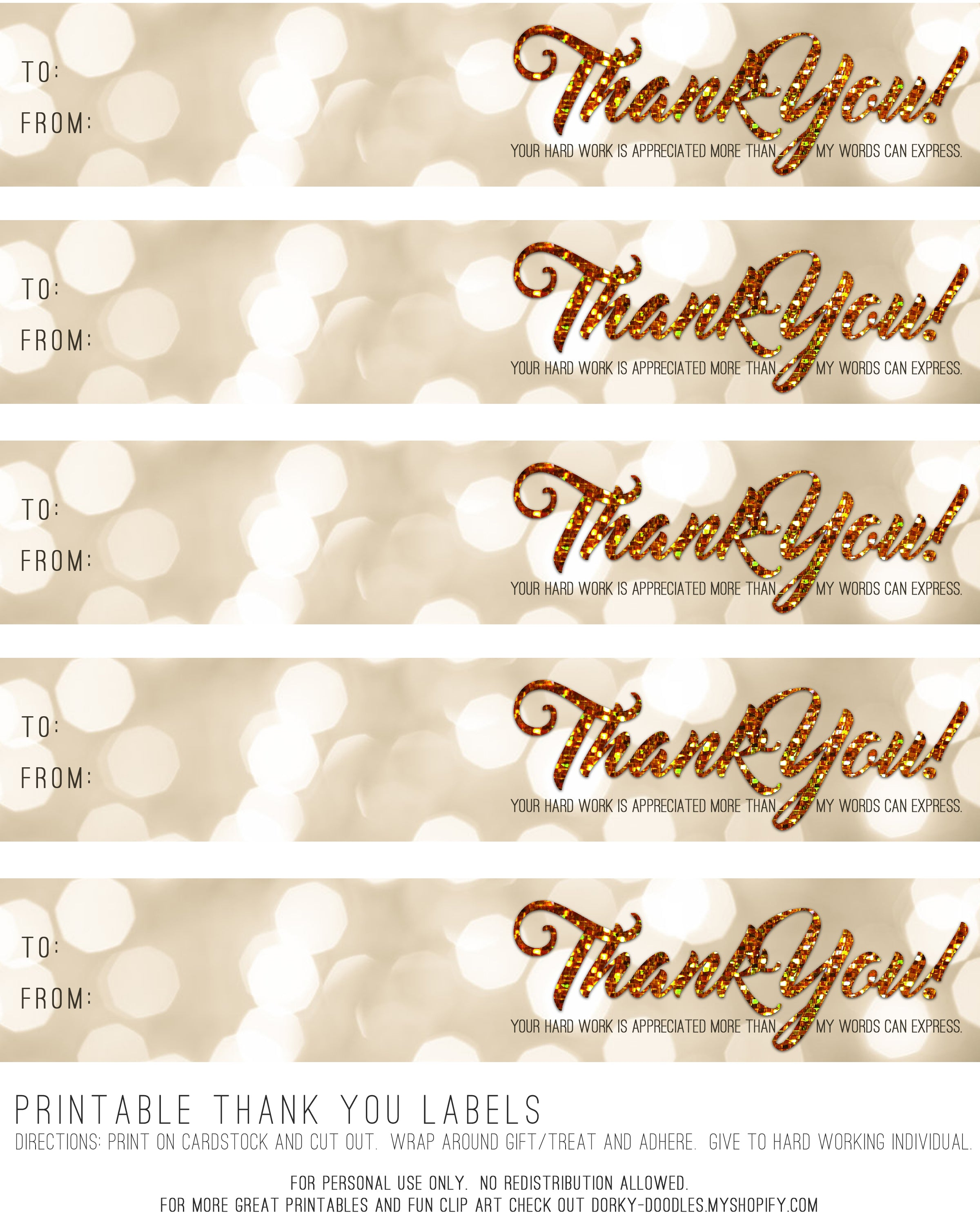 printable thank you labels dorky doodles just right click on the image below to save the high resolution file