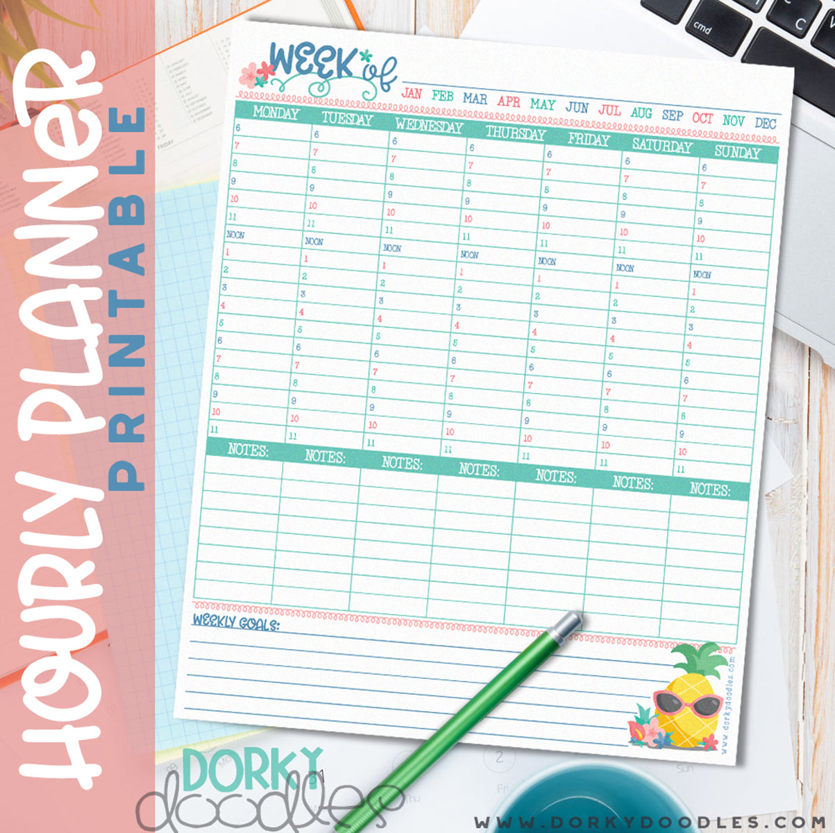 hourly planner printable