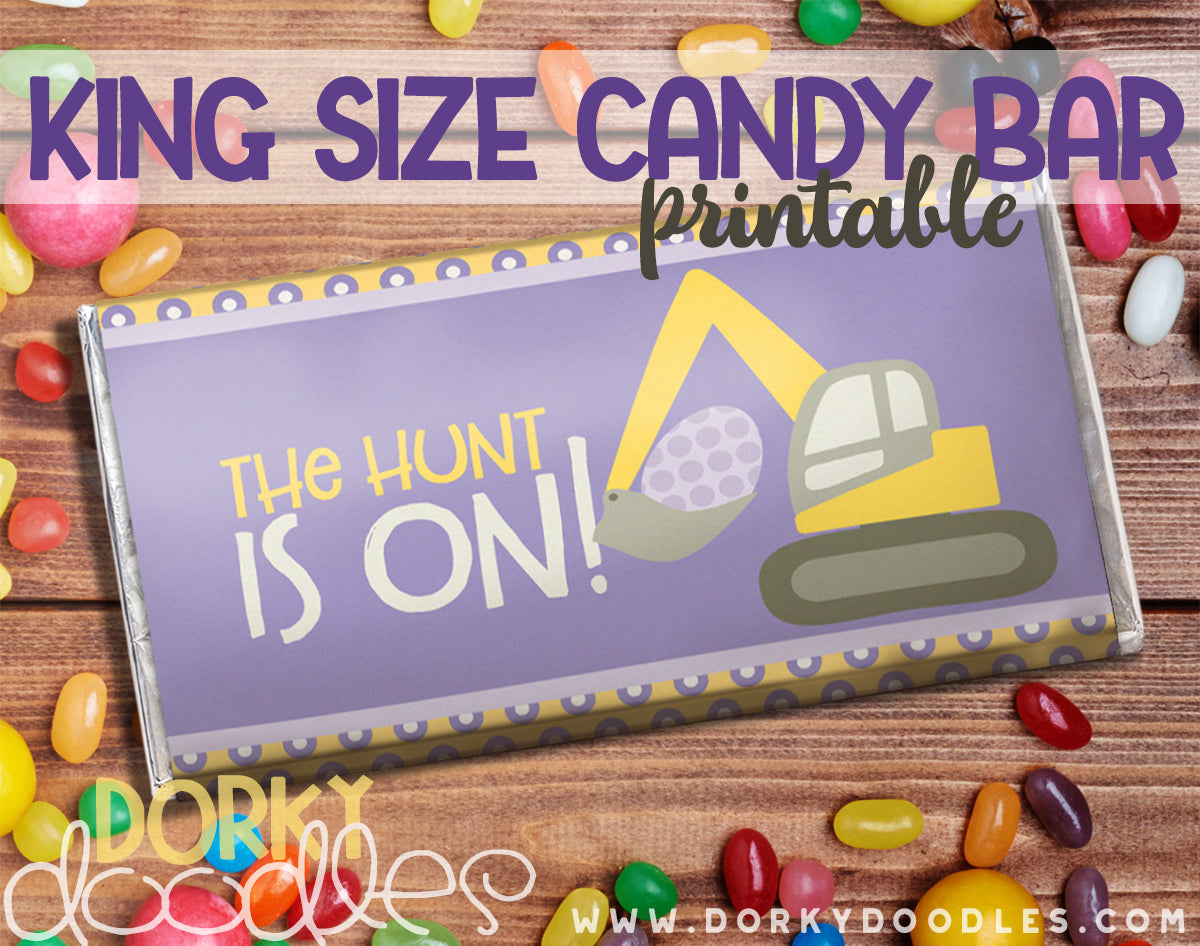 printable kind size candy bar wrapper for Easter