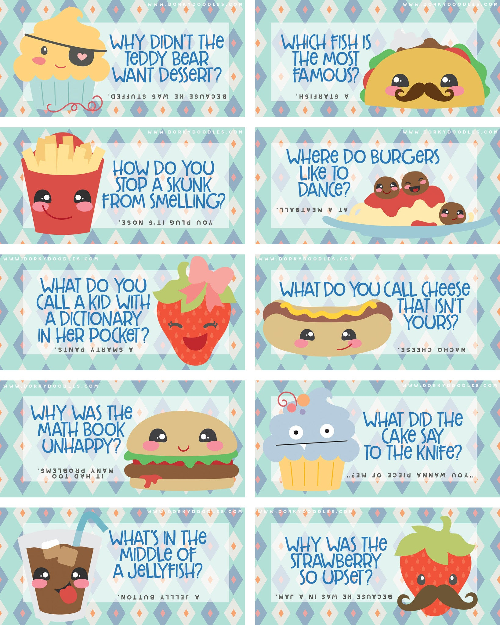 It is a graphic of Superb Cute Lunch Notes