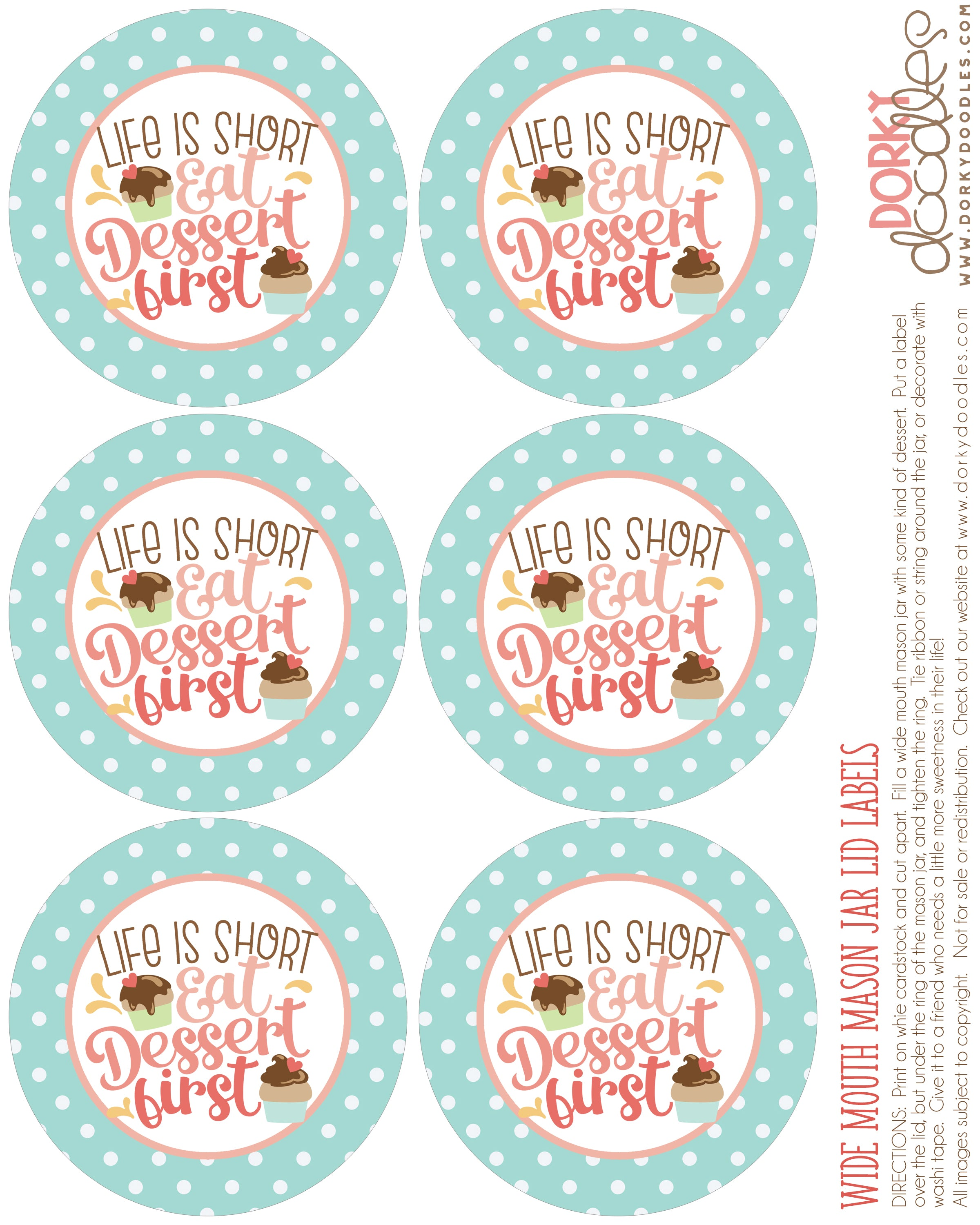 wide mouth mason jar lid label
