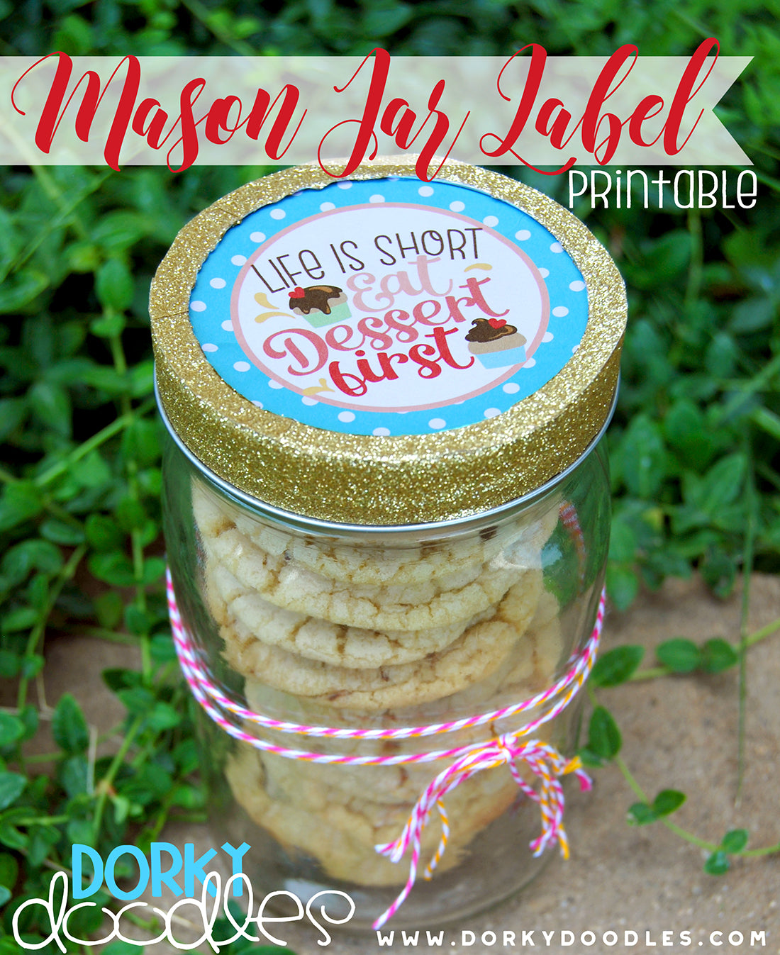 mason jar lid label printable