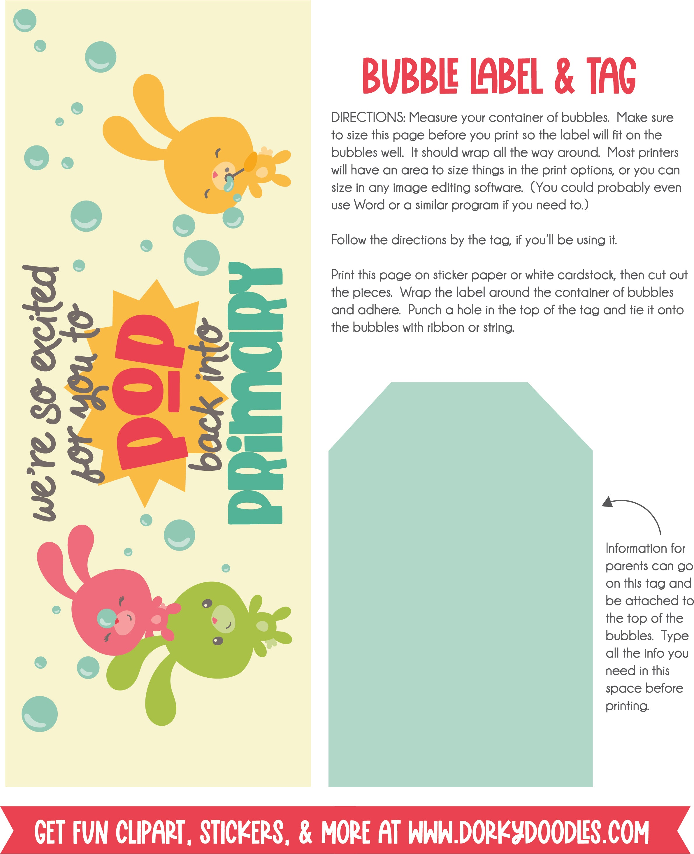 welcome back to primary bubble printable