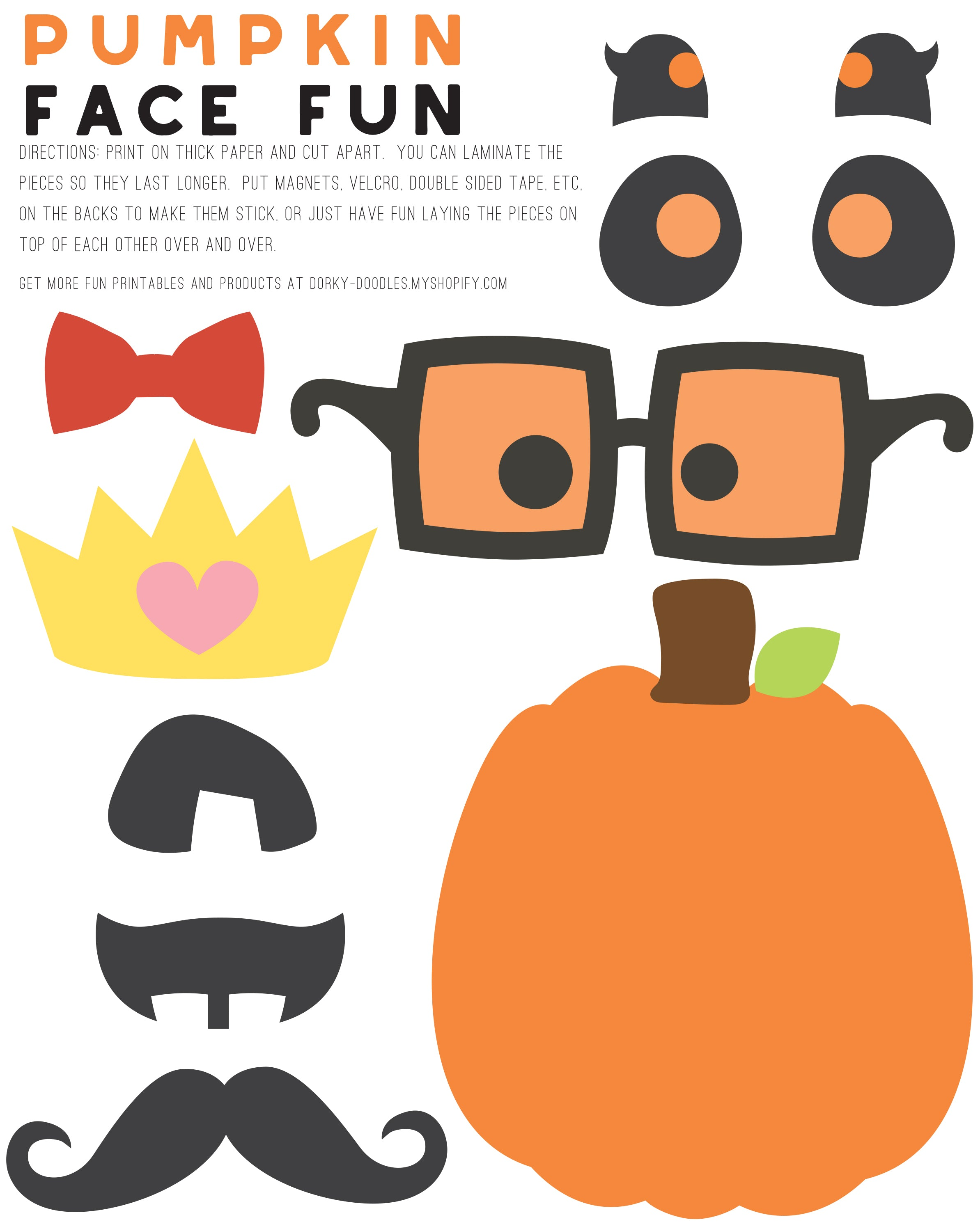 photo relating to Printable Pumpkin Face identify Beautify a Pumpkin Encounter Printable Dorky Doodles