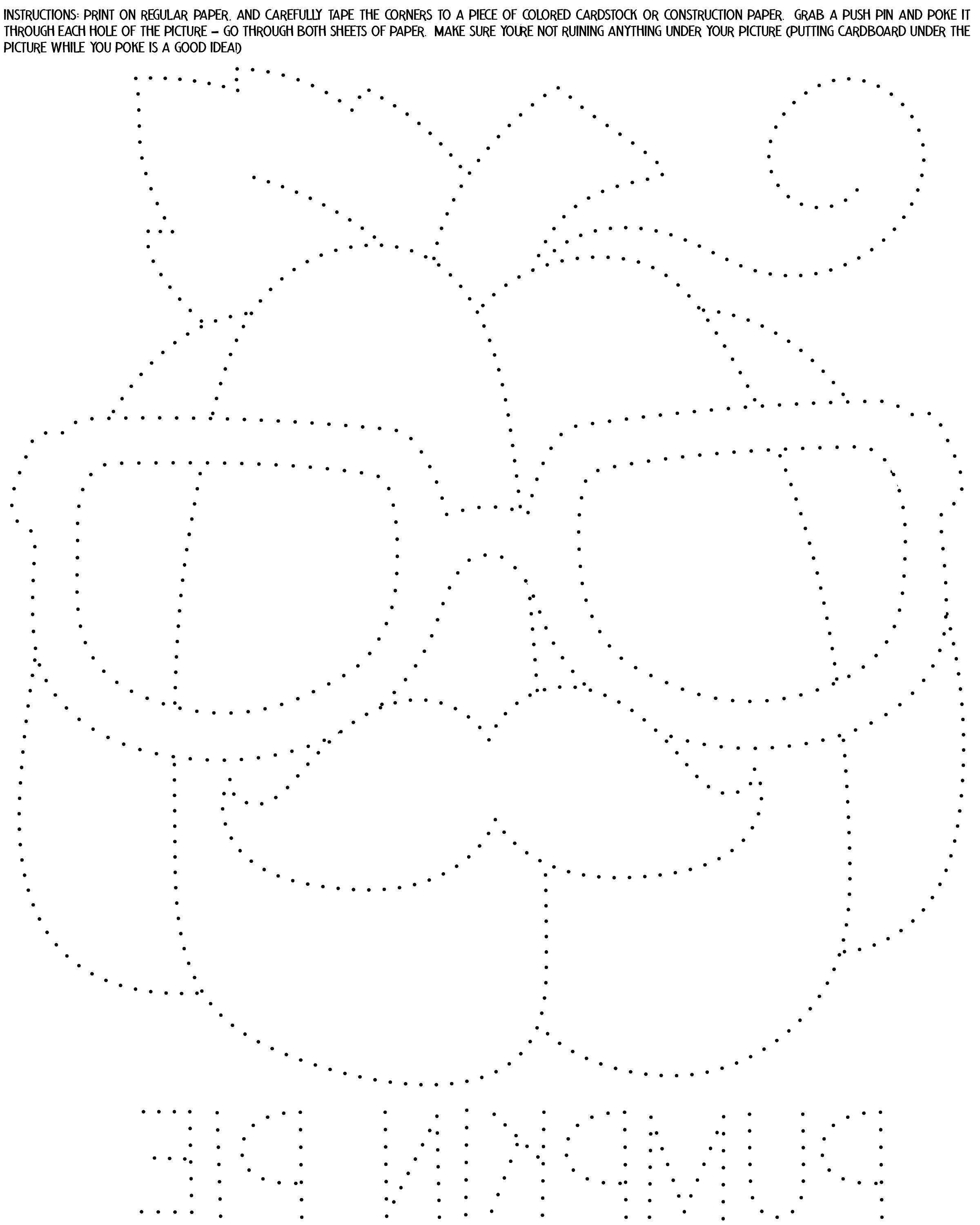 pumpkin pinhole art template