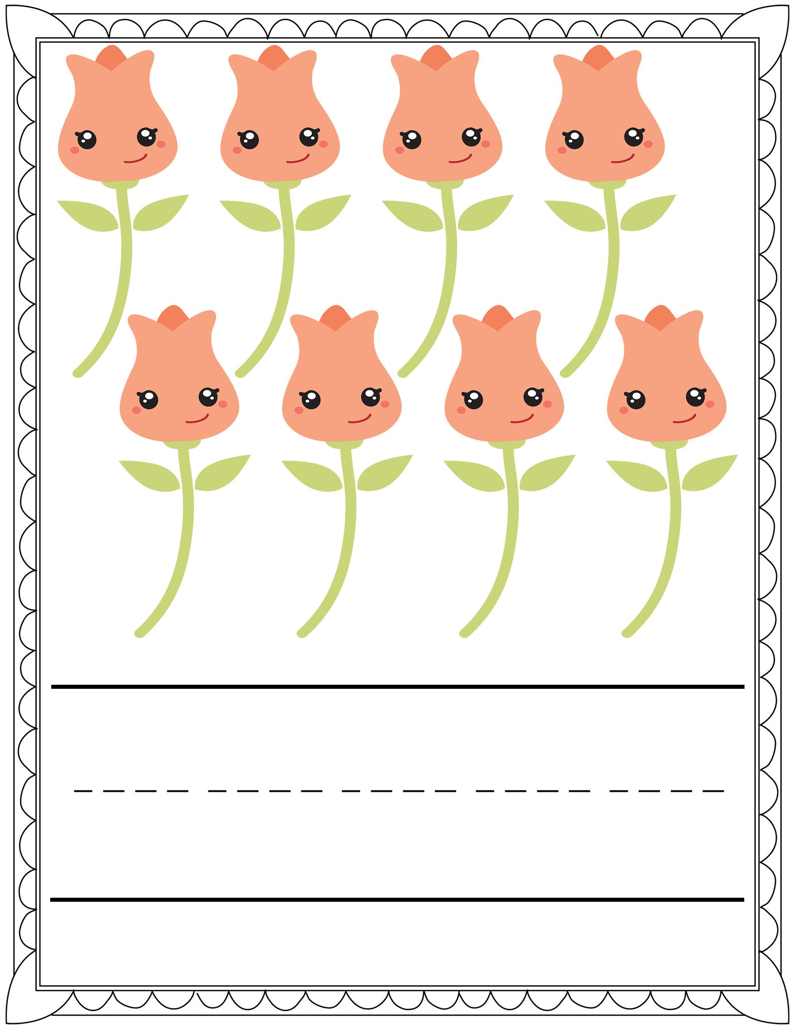 Printable counting worksheets for spring dorky doodles and if you love these you should go grab the full pack of printable worksheets from zippadee zazz dhlflorist Gallery
