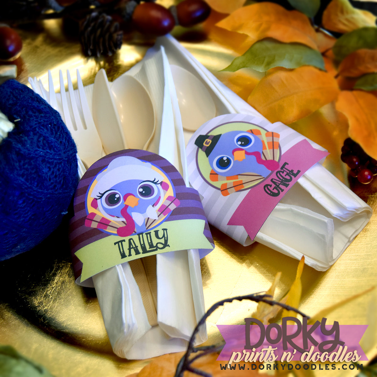 quick and easy napkin rings to print