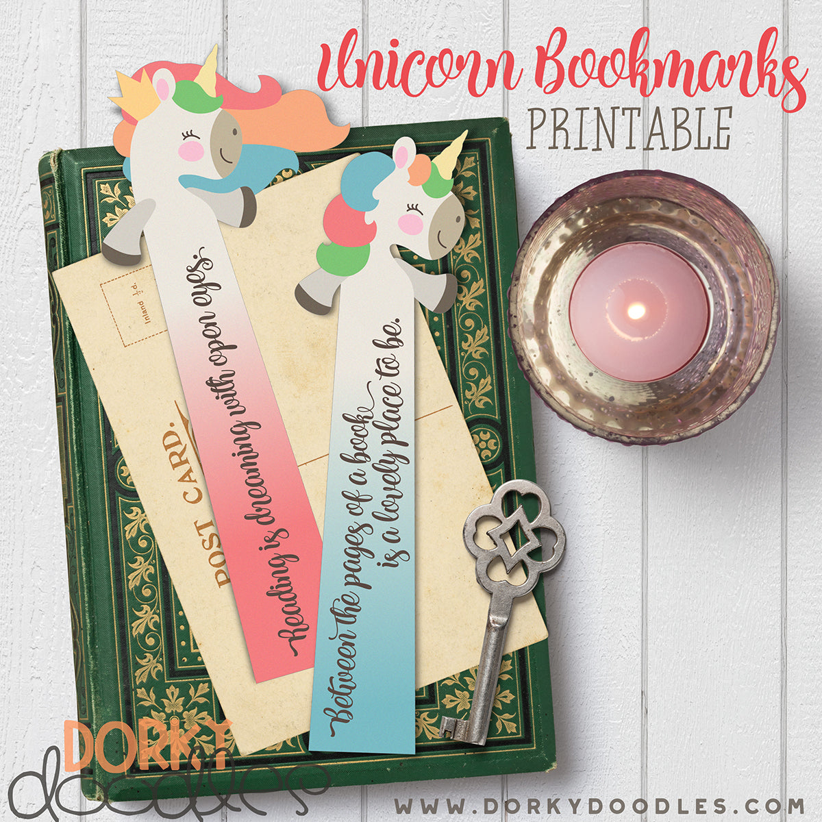 Printable Unicorn Bookmarks Dorky Doodles