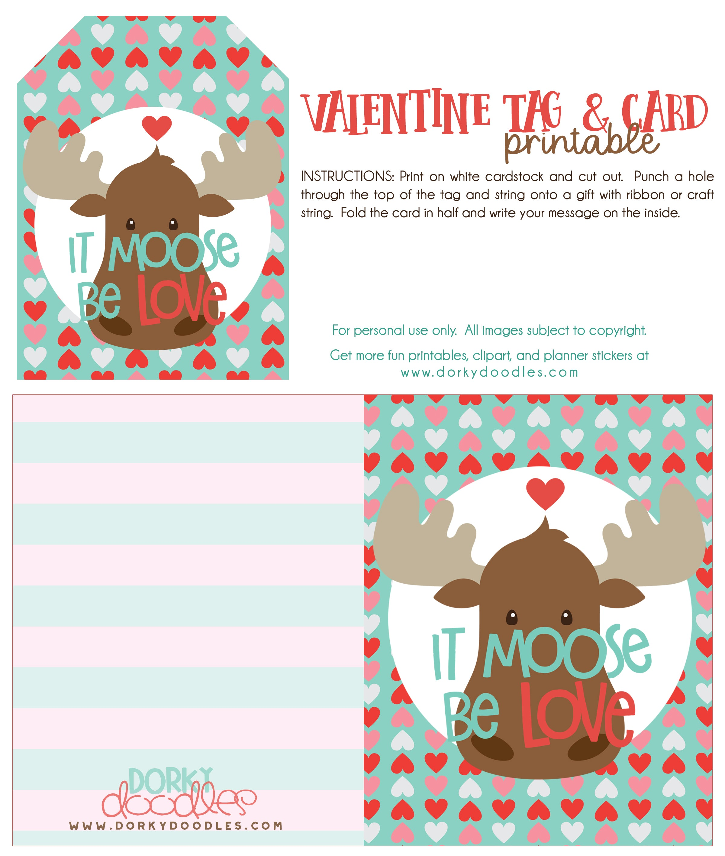 printable valentine gift tag