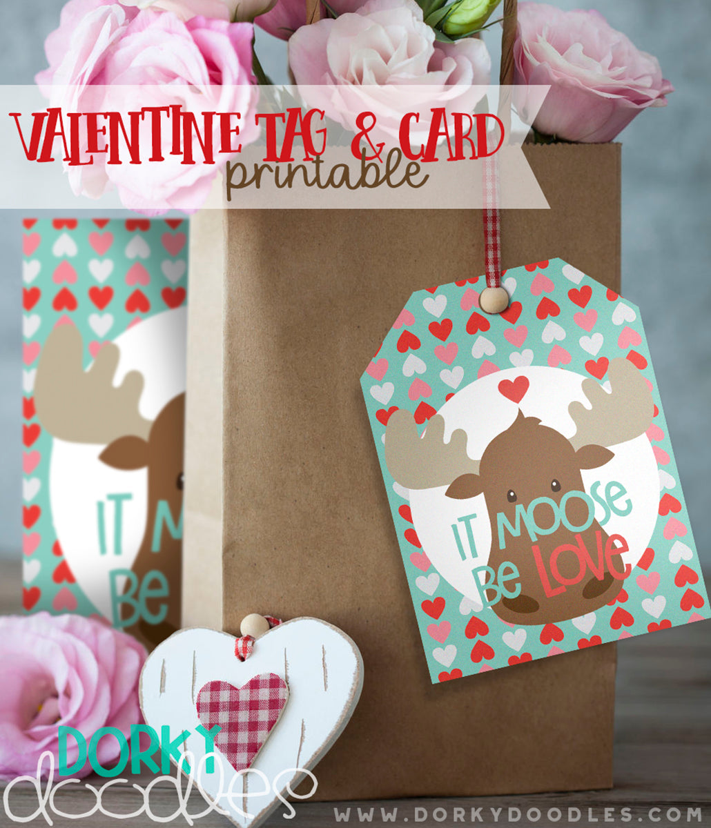 valentine tag and card printable