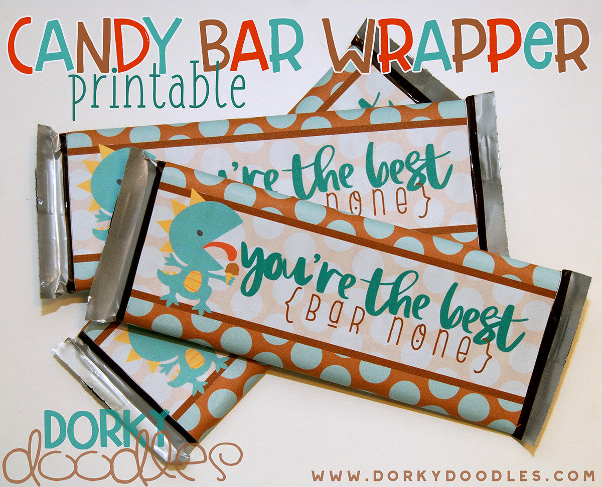 graphic about Printable Hershey Bar Wrappers identified as Thank By yourself Printable Sweet Bar Wrapper Dorky Doodles