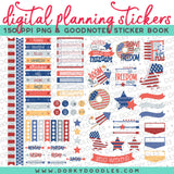 Patriotic Digital Planner Stickers