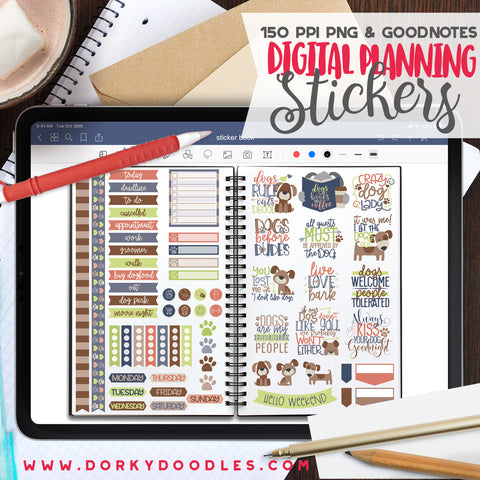 Dog Lovers Digital Planner Stickers