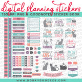 Cat Lovers Digital Planner Stickers