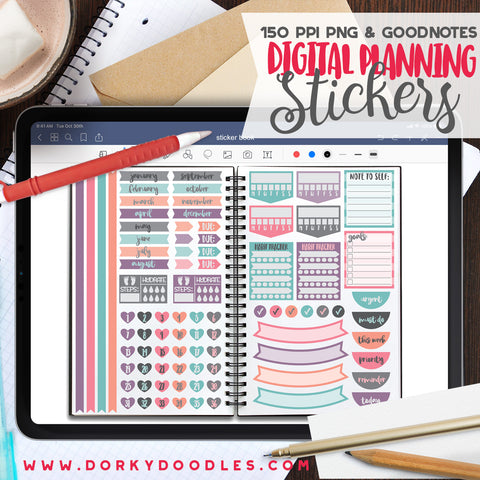 Cat Lover Extra Digital Planner Stickers