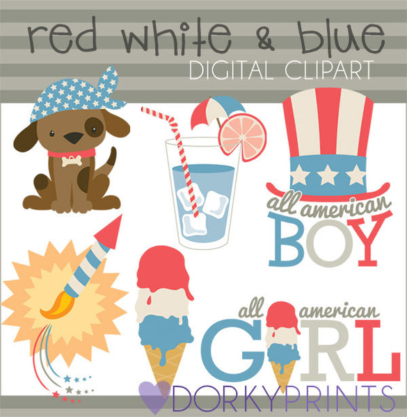 All American Summer Clipart