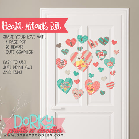 "Cute Valentine ""Heart Attack"" Holiday Printables"