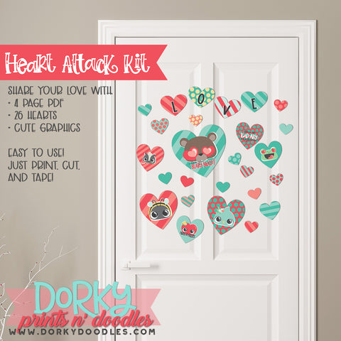 "Fun Valentine ""Heart Attack"" Holiday Printables"