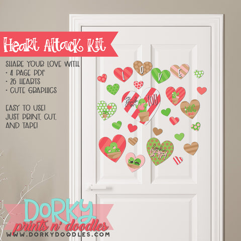 "Cute Cactus Valentine ""Heart Attack"" Holiday Printables"