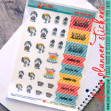 Laundry Day Clear Planner Stickers