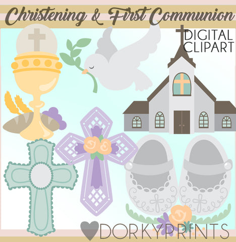 Christening or First Communion Clipart