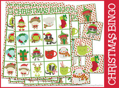 Christmas Bingo Game Learning Printables
