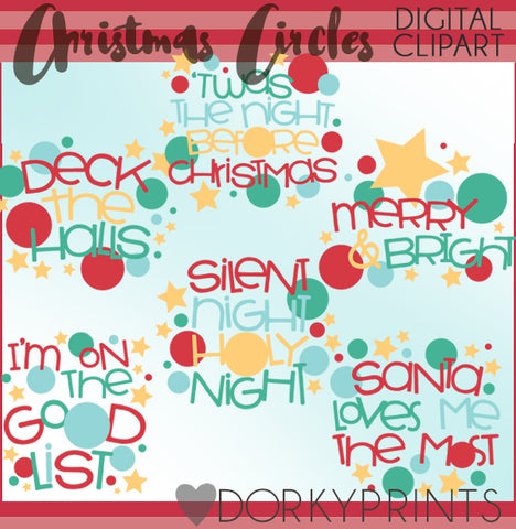 Circle Wordart Christmas Clipart