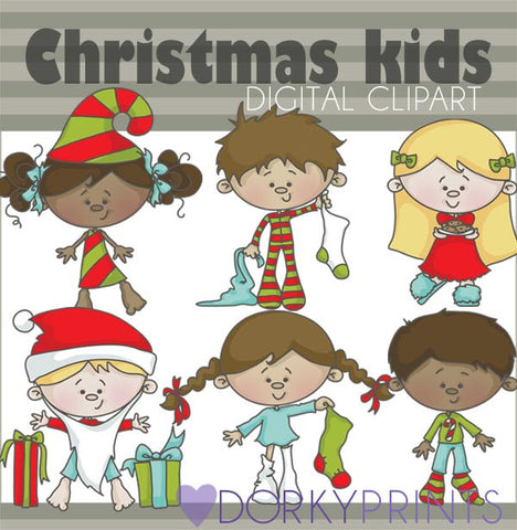 Kids Christmas Clip Art