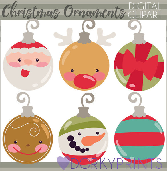 Ornaments for Christmas Clipart